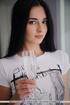 brunette fawn white shirt