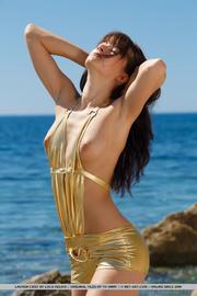 first-rate bird golden swimsuit
