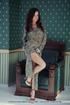tramp patterned dress sits