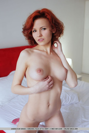 enchanting red-haired tramp white