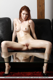 delightful red-haired beav iin