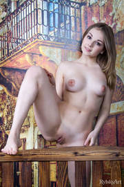 young nude blonde plays