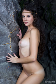 tempting cute nude brunette