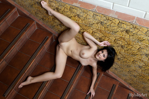 Creamy lusty brunette with bouncy small  - XXX Dessert - Picture 12