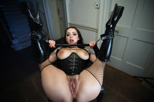 Boobilicious ponytailed brunette in a le - XXX Dessert - Picture 7