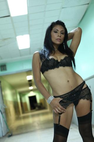 swarthy latina black stockings