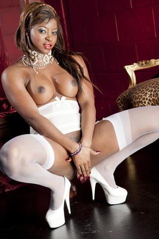 White jasmine black stockings