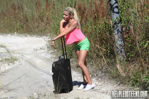 Busty ponytailed blonde teen hitchhike t - XXX Dessert - Picture 1