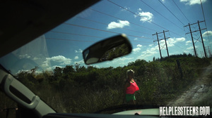 Busty ponytailed blonde teen hitchhike t - XXX Dessert - Picture 2