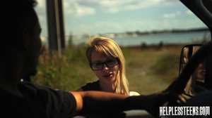 Fair-haired teen hitchhiker gets enchain - XXX Dessert - Picture 2