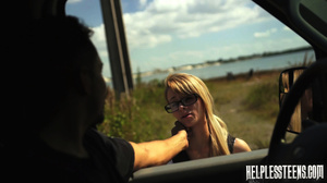 Fair-haired teen hitchhiker gets enchain - XXX Dessert - Picture 3