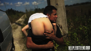 Fair-haired teen hitchhiker gets enchain - XXX Dessert - Picture 6
