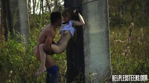 Fair-haired teen hitchhiker gets enchain - XXX Dessert - Picture 13