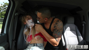 Teen hitchhiker in a red top gets gagged - XXX Dessert - Picture 7
