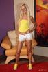 dirty blonde teen yellow