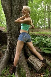 teen blondie with plaits
