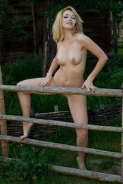 hot blonde babe posing