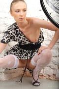 blonde, stockings, teen, white