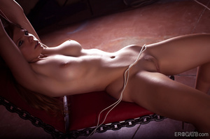 Busty long-haired nude babe roped on the - XXX Dessert - Picture 9