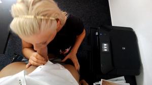 Stacked blondie in a black T-shirt givin - XXX Dessert - Picture 6