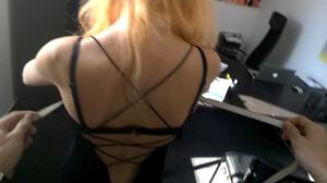 Blonde cutie in a black dress and a brun - XXX Dessert - Picture 3