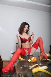 belle red lingerie and