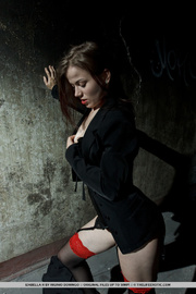 smoky brunette black shirt