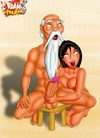 Porn Jasmine from Aladdin playing with two dicks while Asian hottie tugging