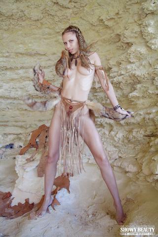 girlie animal skins furs