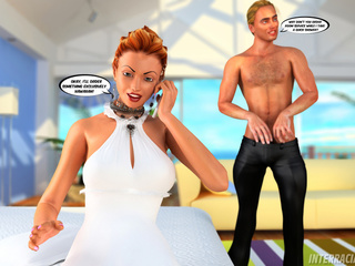 Ginger bride pleasing two huge black guys orally - Picture 3