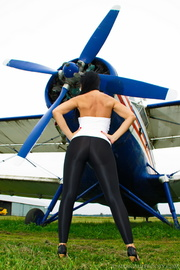 aviation buff parades her