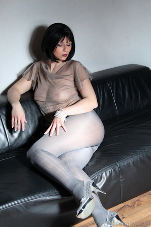 Beauty in see-through silk top, sparklin - XXX Dessert - Picture 2