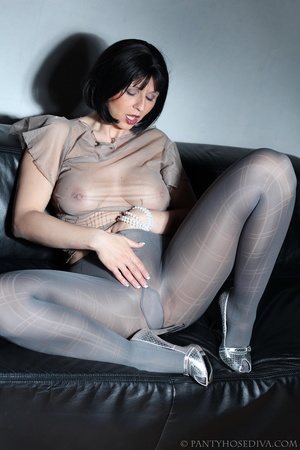 Beauty in see-through silk top, sparklin - XXX Dessert - Picture 15