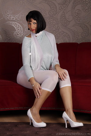 Elegant poses on the couch from brunette - XXX Dessert - Picture 5