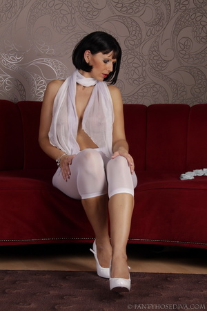 Elegant poses on the couch from brunette - XXX Dessert - Picture 8