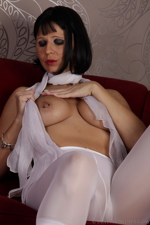 Elegant poses on the couch from brunette - XXX Dessert - Picture 9