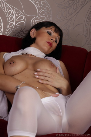 Elegant poses on the couch from brunette - XXX Dessert - Picture 10