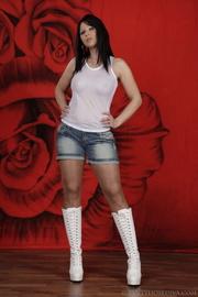 cutie white platform boots