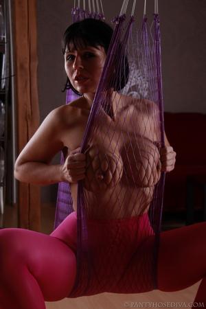 Stunning female in sheer, bright pink ti - XXX Dessert - Picture 4