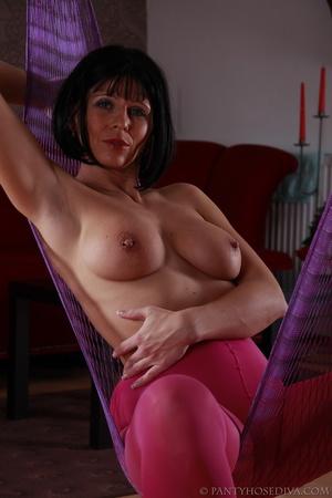 Stunning female in sheer, bright pink ti - XXX Dessert - Picture 8