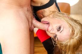 blonde, deep throat, oral, rough sex