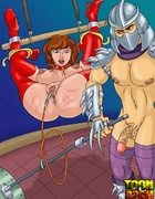 Kinky Shredder punishes bondage April O'Neil