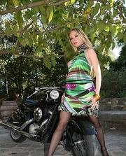 horny babe green dress