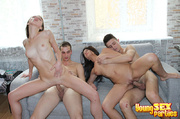 hot group action couch