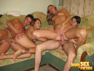foursome sofa erupts passionate