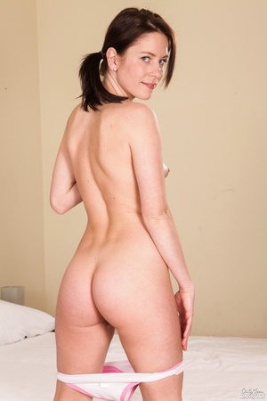 Cutie in pigtails strips down to her kne - XXX Dessert - Picture 9