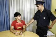 police officer cuffs handsome