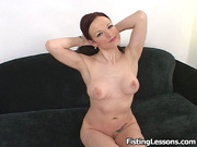 redhead whore gets naked