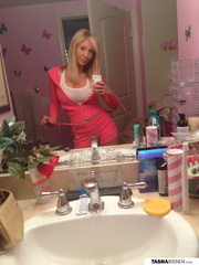 blonde temptress different outfit