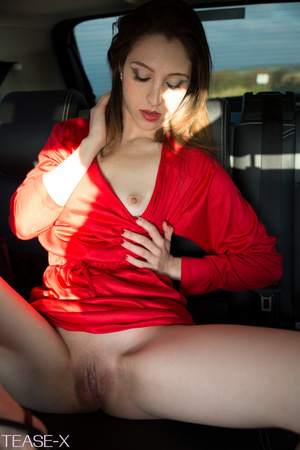 Highly alluring hottie rides on a car in - XXX Dessert - Picture 7